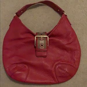 Red MK leather bag